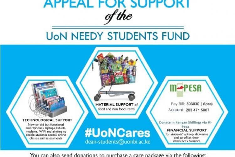 UoN needy students support fund