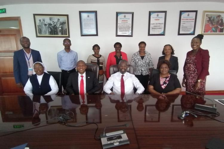 VC Prof Kiama meets Dean of Students, Assistant Deans of Students and counselors