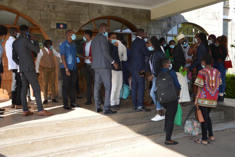 Arrival and registration during the  KCB Leadership Centre, Karen.