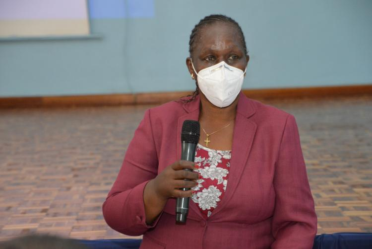 DVC, Finance, Planning and Development, Prof Margaret Hutchinson kicked off the meeting