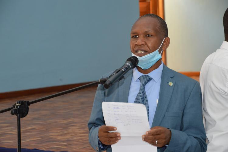 The Host, DoS, Mr. Johnson Kinyua welcome all participants to the workshop