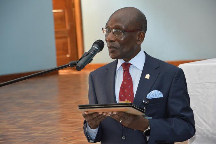 Prof. Julius Ogeng'o address the Student Leaders