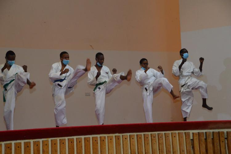 Karate category brought out the energy in the Hall!