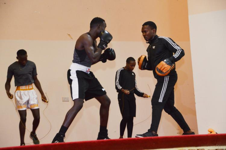 Boxing category showed off their might and skill