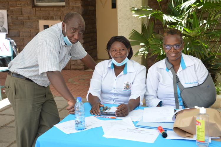 DoS staff during the Talents Day