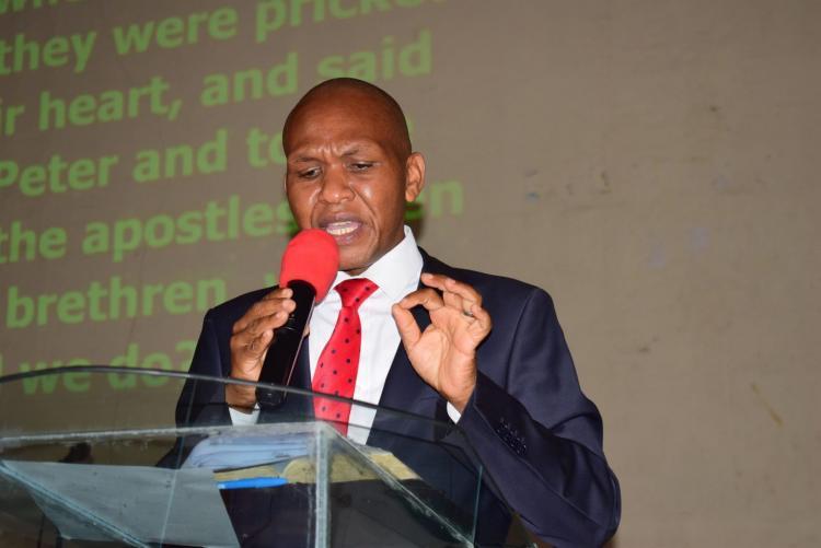 God uses the Dean Mr.Kinyua to Preach the Good News